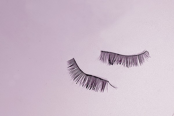 Worn out false lashes